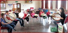 Dragon Drums in a school classroom