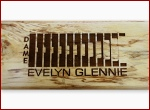 Dame Evelyn Glennie Table Drum Leg - Laser Etched